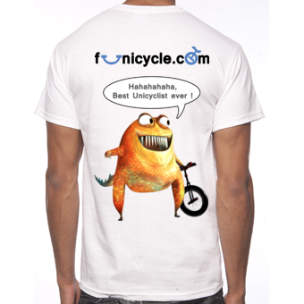 Tee-shirt of Unicycle Funicycle 2012 - Best Unicyclist ever!