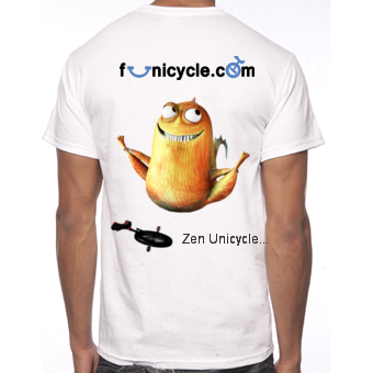 Tee-shirt of Unicycle Funicycle 2012 - Zen Unicycle...