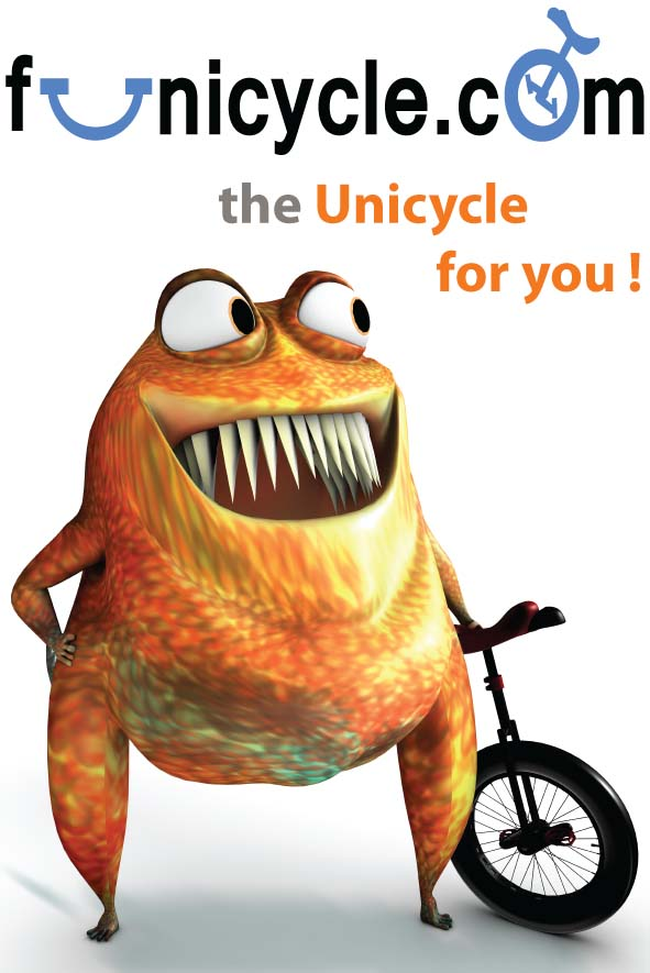 Unicycle Poster Funicycle A0