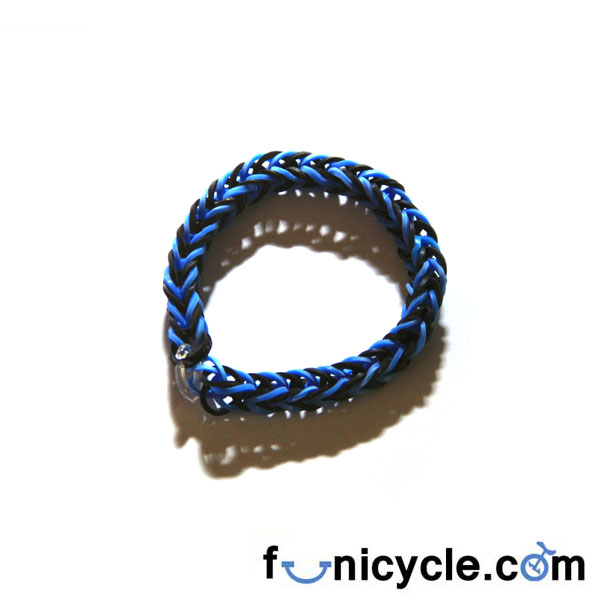 Elastic Wristband Blue Black