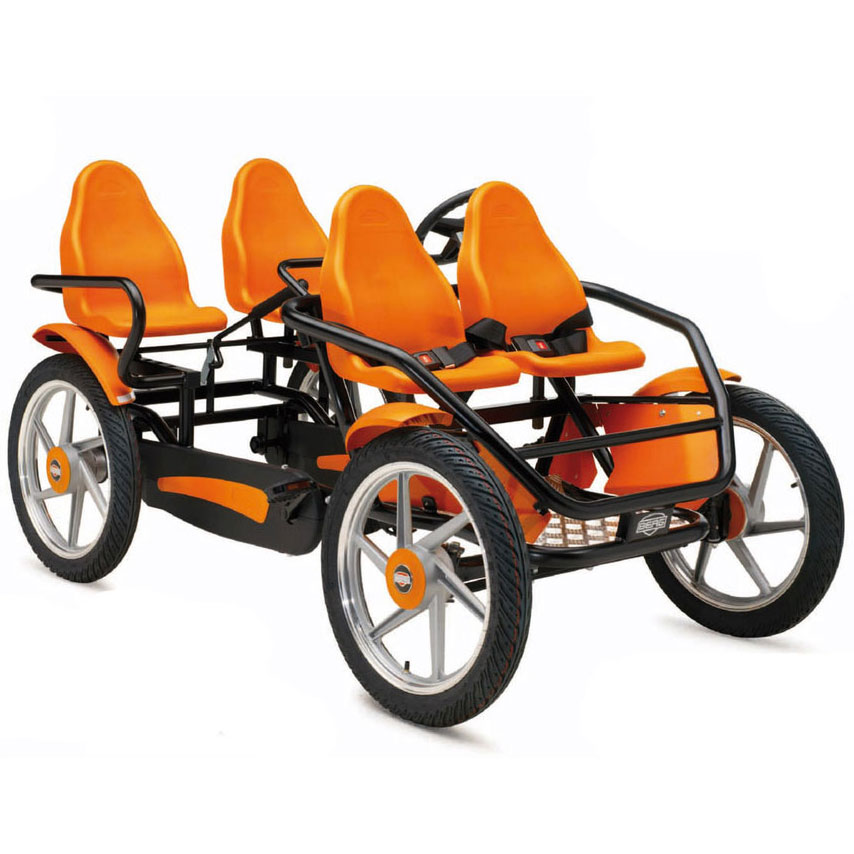 Rental of Quadracycle Pedal cars 4 people (2 adults + 2 children)