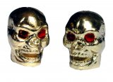 Golden Skull Ventilcap for Unicycle Innertube Caps Mountain Bike Bicycle BMX Unicycle Cars
