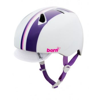Kids Helmet of Unicycle for Child 6 / 8 years -Bern White/Purple