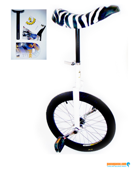 Freestyle Unicycle Qu-ax White Luxus Club Beginner Child/Adult 20 Inch/406mm ...