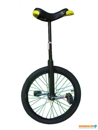 Unicycle Qu-ax Luxus Black - Freestyle/Beginner 20 Inch/406mm