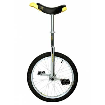 Qu-ax Luxus Freestyle Chromium Unicycle 20 Inch/406mm