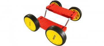 Red Acrobatic PedalGo 4 wheels for Childs - Kids 8 Inch/140mm