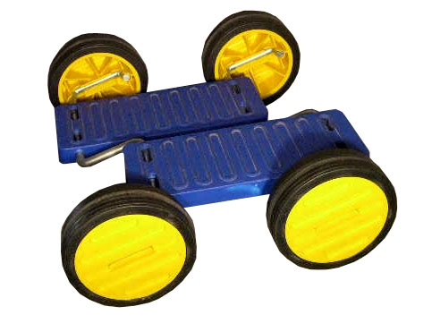 Blue Acrobatic PedalGo 4 wheels for Childs - Kids 8 Inch/140mm