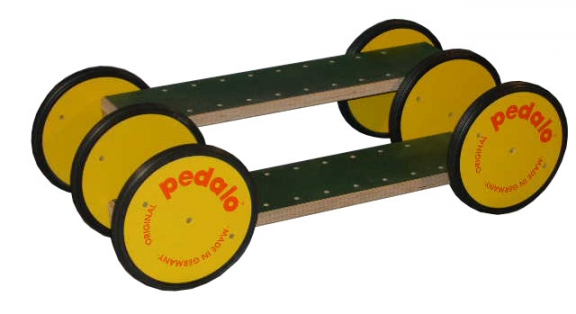 Acrobatic Pedalo 6 wheels in wood Tandem for Two people Childs - Kids and Adults 12 Inch/203m