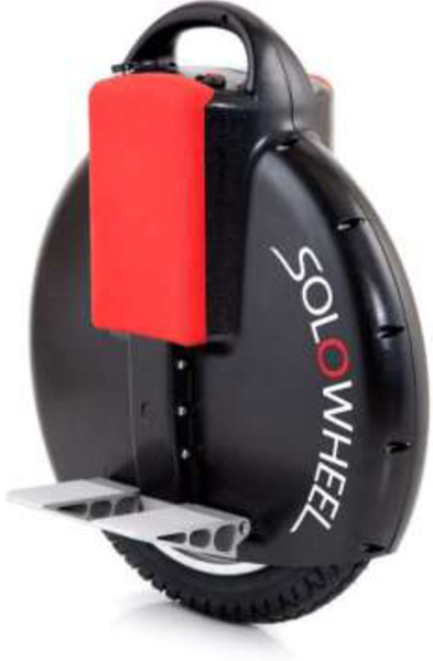 Solowheel Black 1500W - Personal Transporter gyro stabilized electric unicycle with motorized wheel