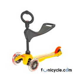 Mini Micro Kick Scooter 3 in 1 Yellow for Children - 1 to 5 years old Childs-Kids aged 1 to 5 years...