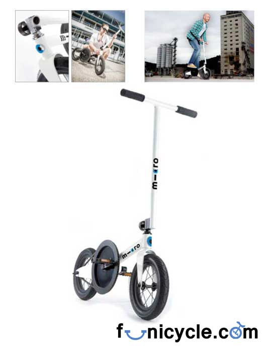 Folding Bike - Kick Scooter with pedals Adult Travel (10-99 ans)