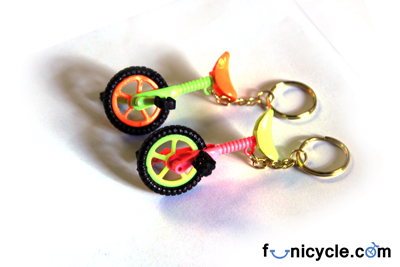Unicycle Key Ring Plastic
