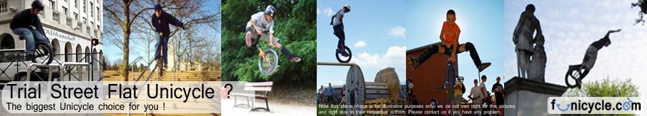 Unicycle-Monocycle-Monocilo-Einrad-Monocicli-Flat-Trial-Street